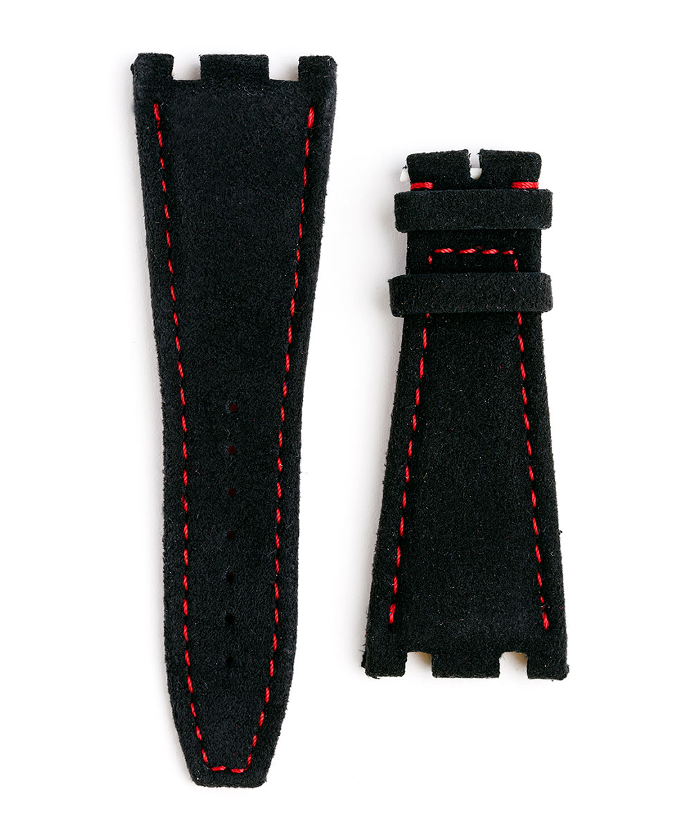 Audemars Piguet Royal Oak Offshore style watch strap 28mm in Black Italian Alcantara