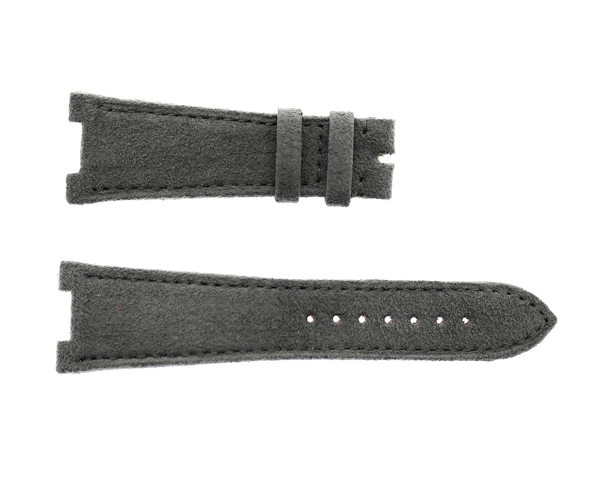 Patek Philippe Nautilus style watch strap 25mm in Grey Italian Alcantara