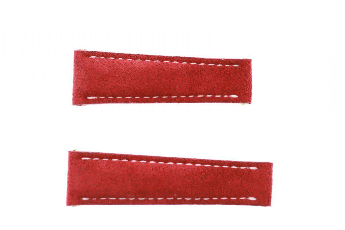 N14 Red Alcantara band 20mm for Rolex Daytona style timepieces