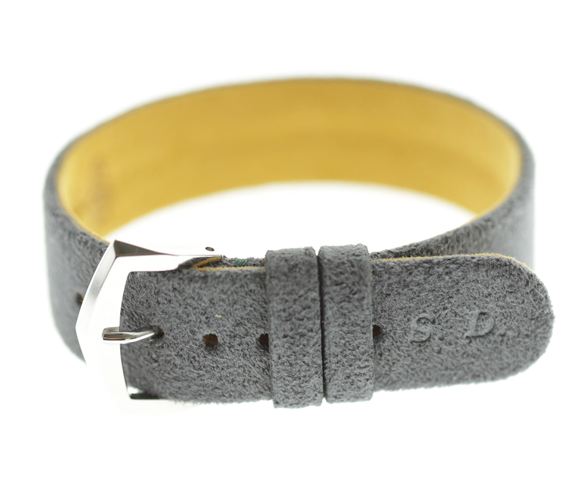 Wrist bracelet in Milano Grey Alcantara® With Your Initials