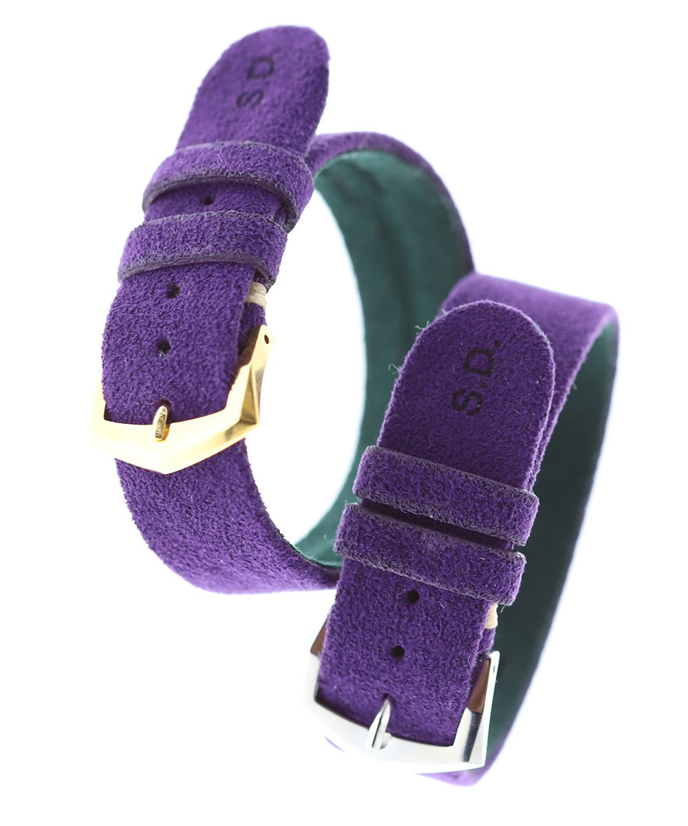Wrist bracelet in Royal Violet Alcantara® With Your Initials
