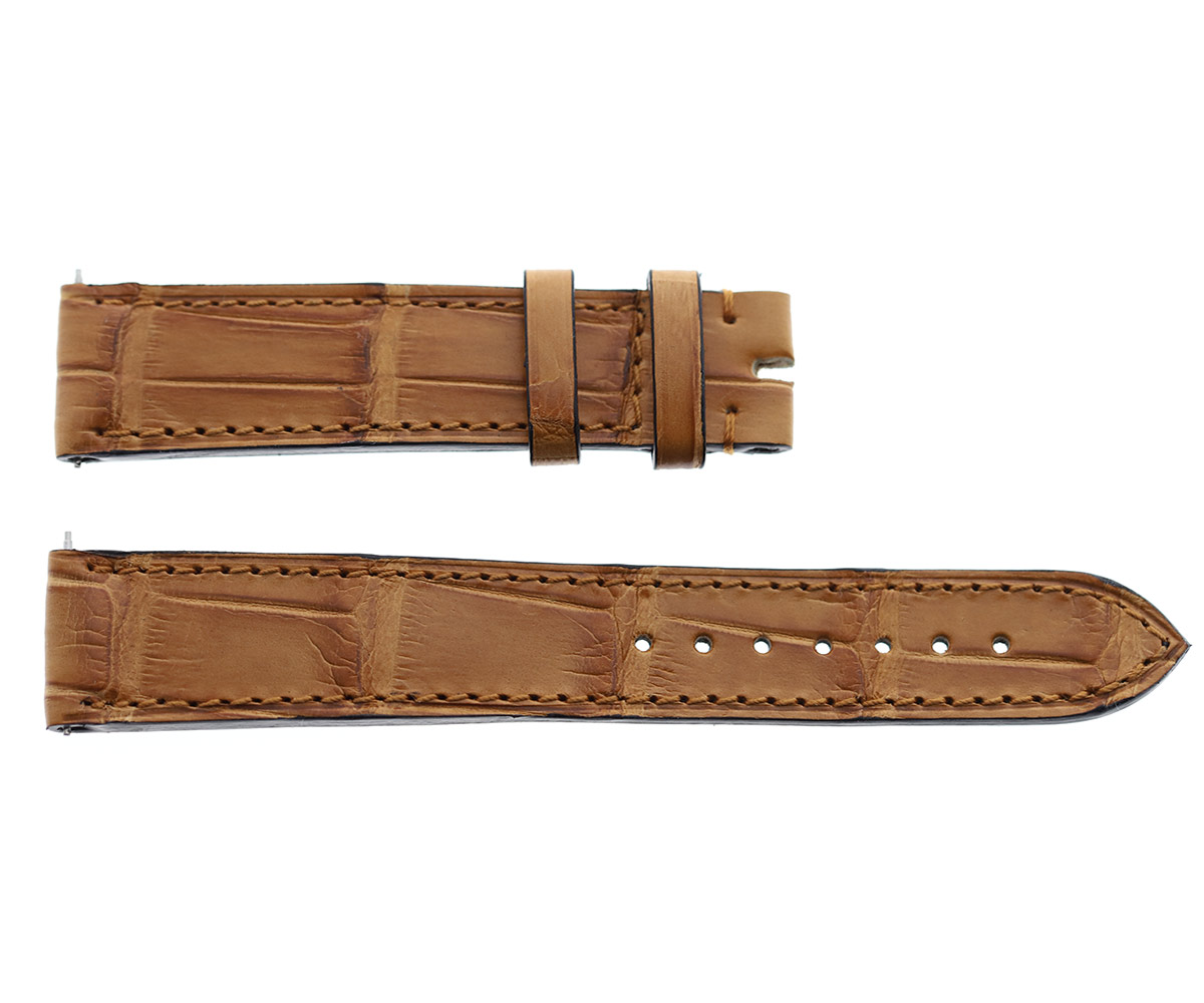 Honey Brown Alligator strap 18mm Jaeger LeCoultre Reverso or General style Timepieces