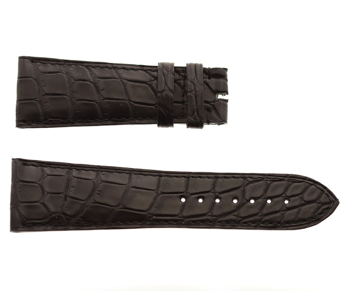 Black Alligator leather strap 26mm