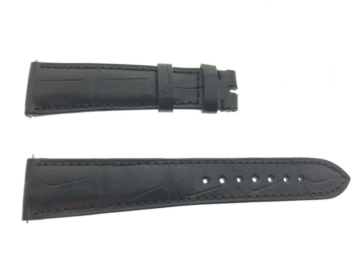 Black Alligator leather strap 21mm Rolex Oyster style