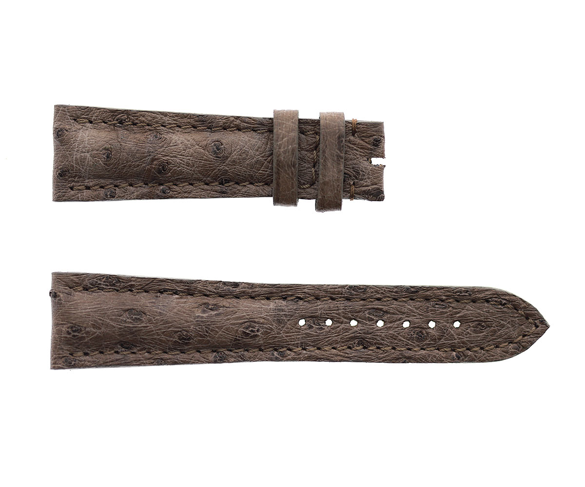 Camouflage Green Exotic Ostrich leather strap 22mm Breitling style