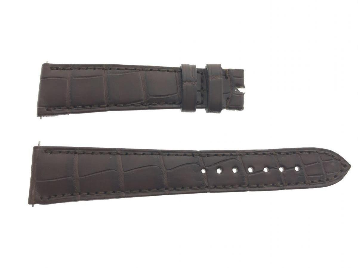 Brown Alligator leather strap 21mm Rolex Oyster style