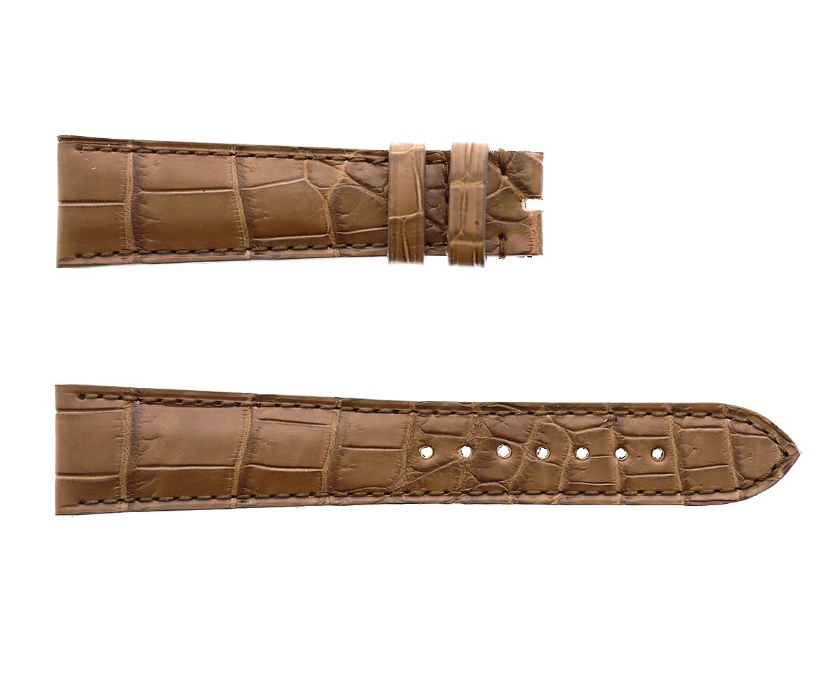 Custom made Cappuccino Brown Alligator leather strap 20x16mm