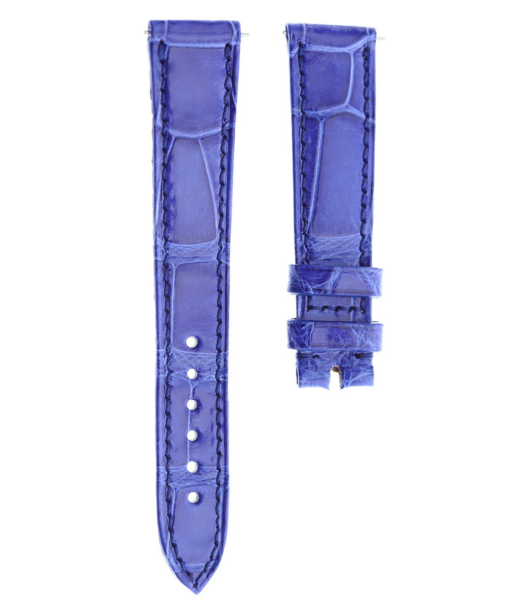 Blue Matte Alligator leather strap 18mm Lady Franck Muller Crazy Color Dreams 5850
