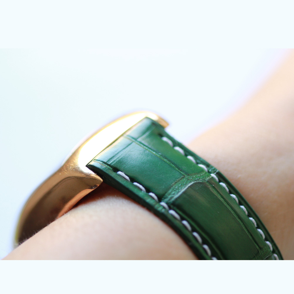 Emerald Green Alligator leather Custom strap