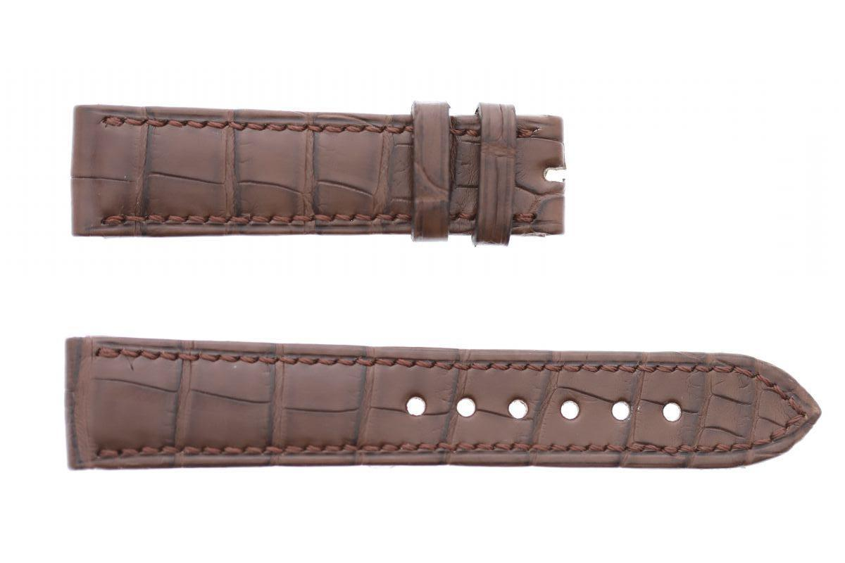 Brown Matte Alligator Leather strap 20mm General style timepieces