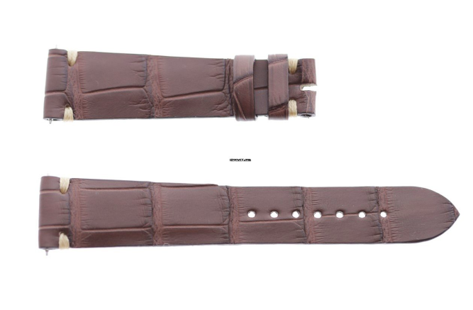 Impermeable Brown Alligator strap 20mm Rolex Daydate, Dayjust. Presile stitching