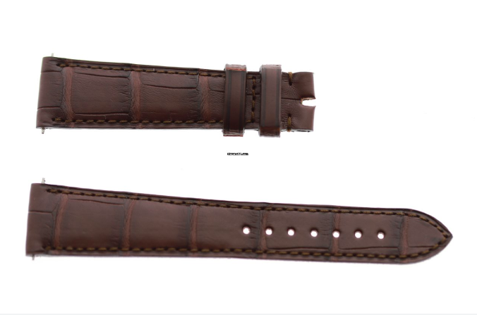 Impermeable Brown Alligator strap 20mm Rolex Daydate, Dayjust. Regular stitching