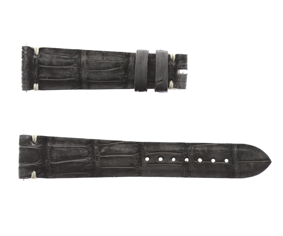 Black Suede Nubuck Alligator strap 20mm Rolex Oyster Perpetual style. Quick Release