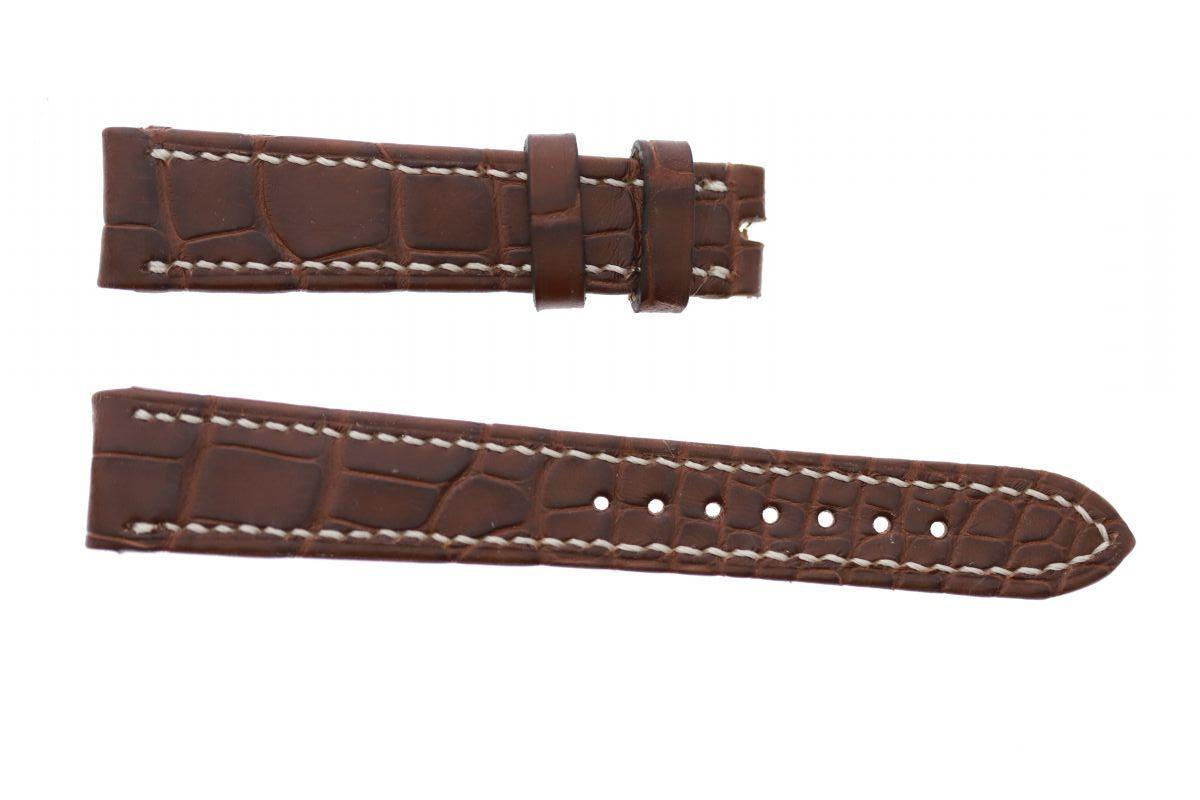 Brown Hydro Alligator leather strap 17mm Vacheron Constantin Les Historiques style