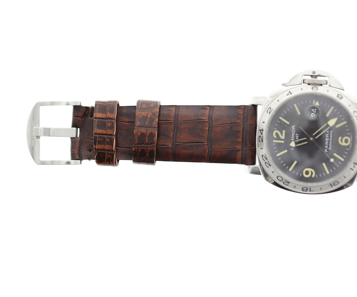 Limited Edition. Vintage Brown Bronze Alligator leather strap 24mm PANERAI style