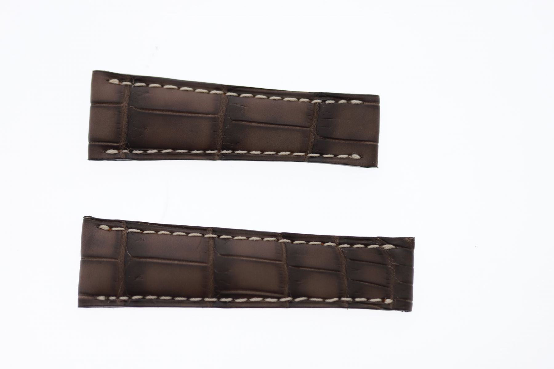 Vintage Wood Brown Alligator leather strap 20mm Rolex Daytona style