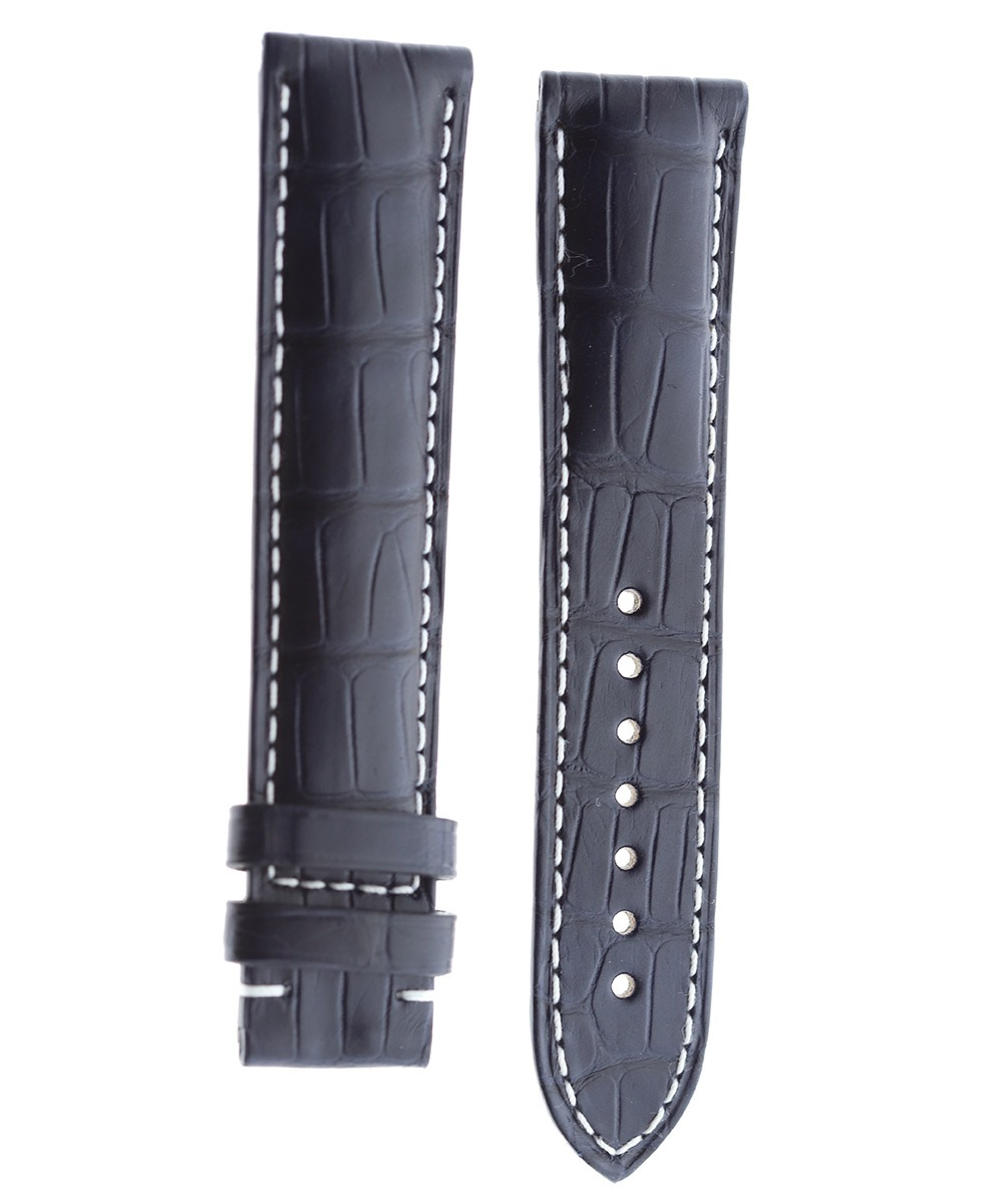 Navy Blue Alligator leather strap 20mm for Omega Speedmaster