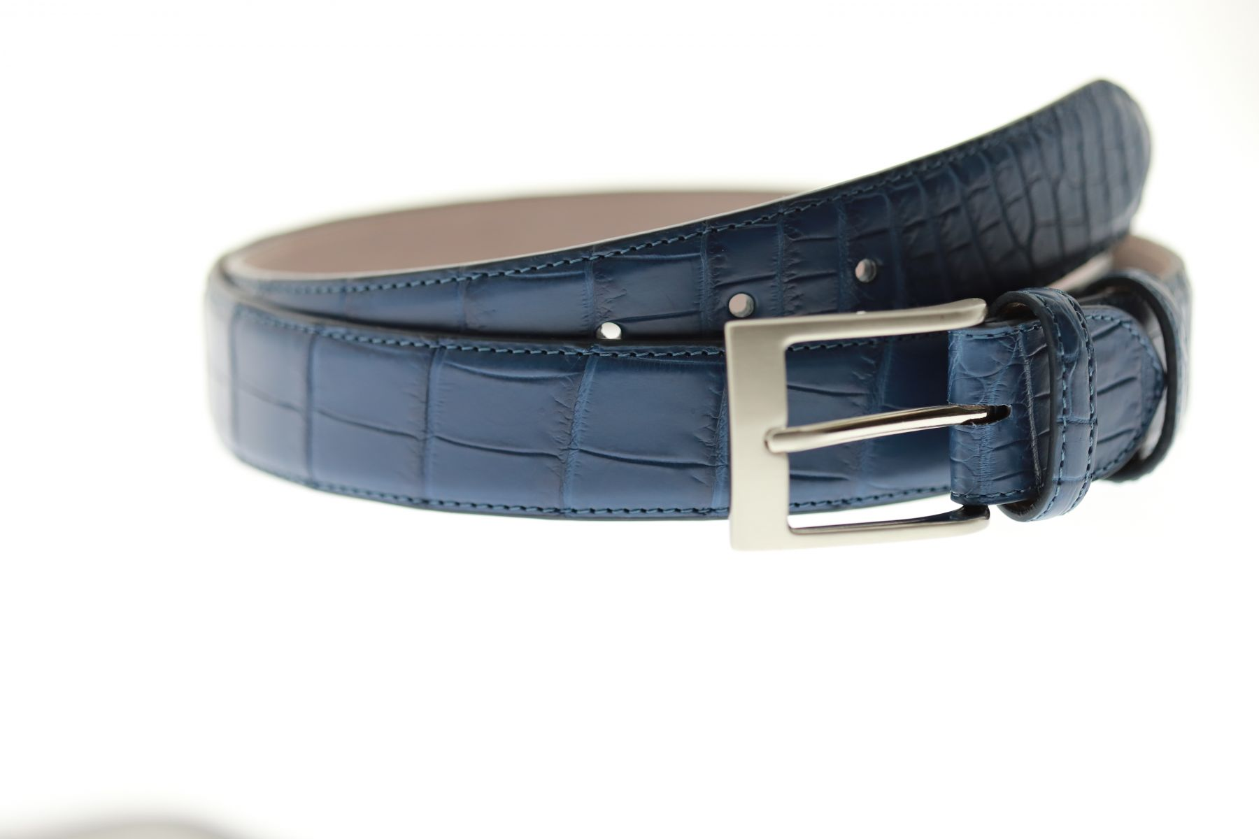 Blue Jeans Belt in Matte Alligator Leather