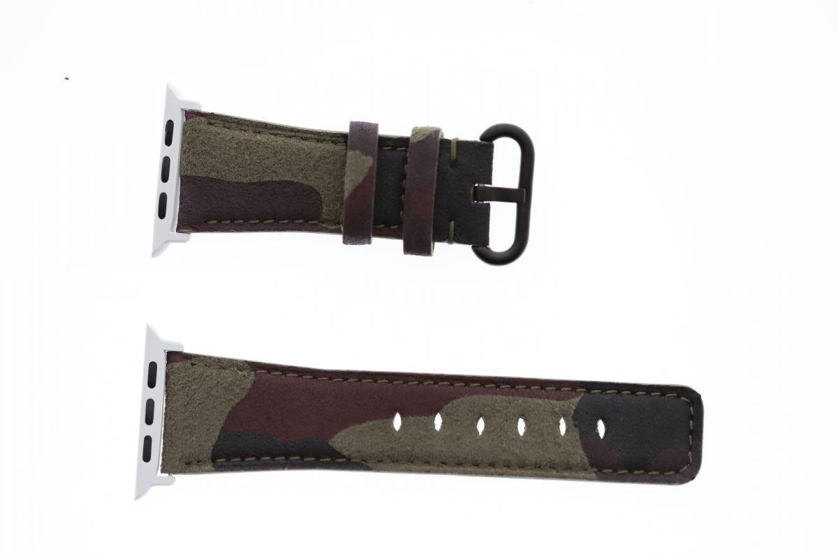 Havana Brown Camouflage Alcantara Apple Watch Strap (Apple Watch All Series)