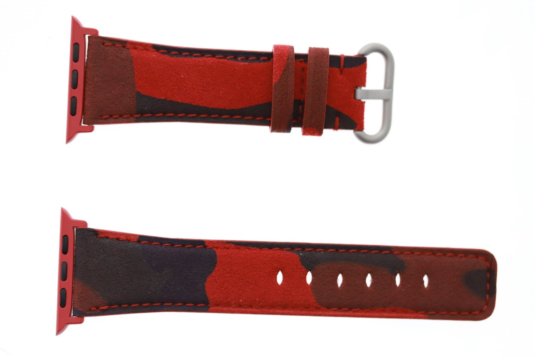 Original Alcantara strap (Apple Watch All Series) / RED FLAME ACAPULCO CAMOUFLAGE