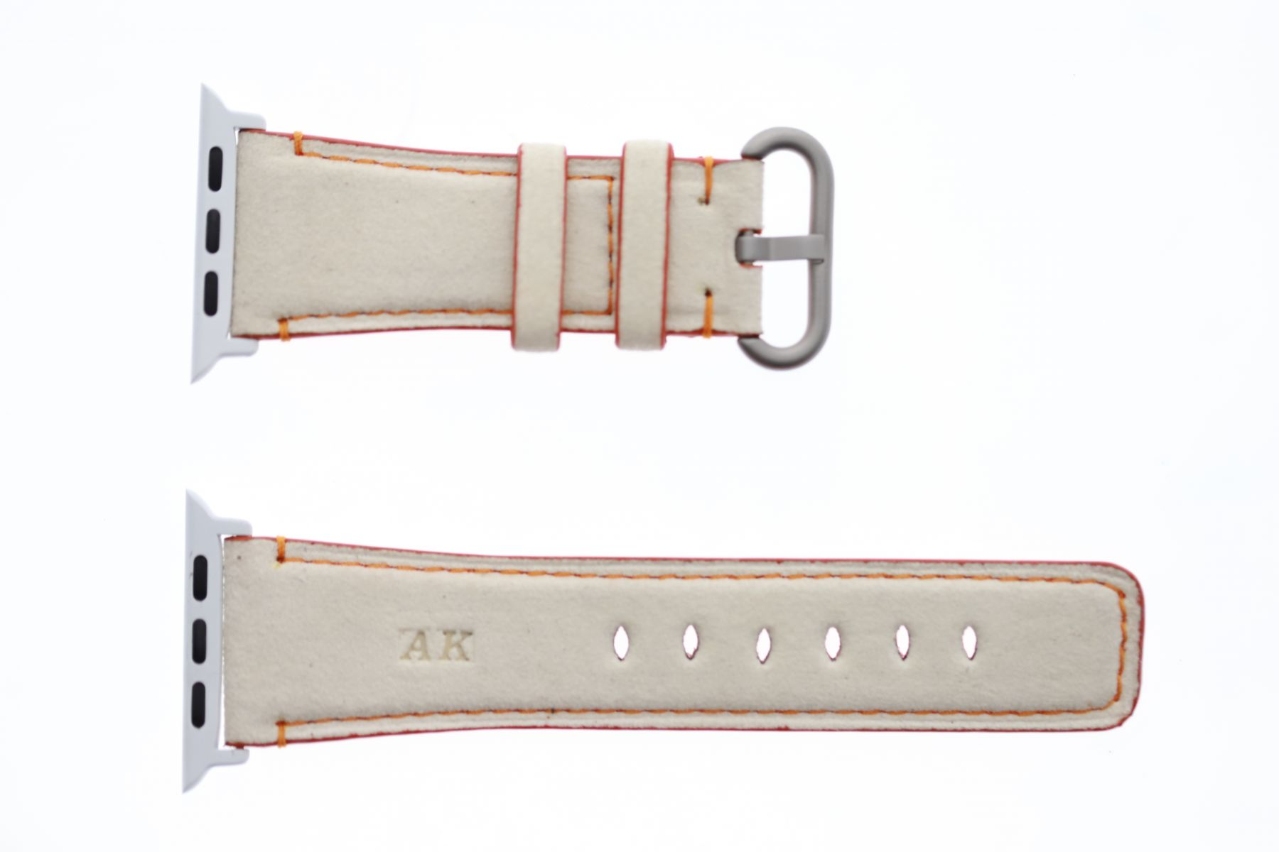 Vanilla White Alcantara Apple Watch Strap 44MM, 42MM (All generations)