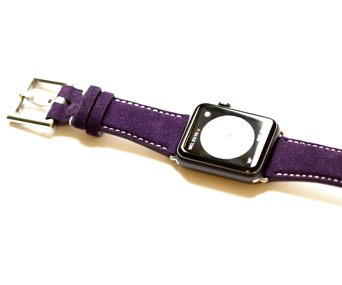 Violet Alcantara wristband Apple Watch 44mm, 42mm style