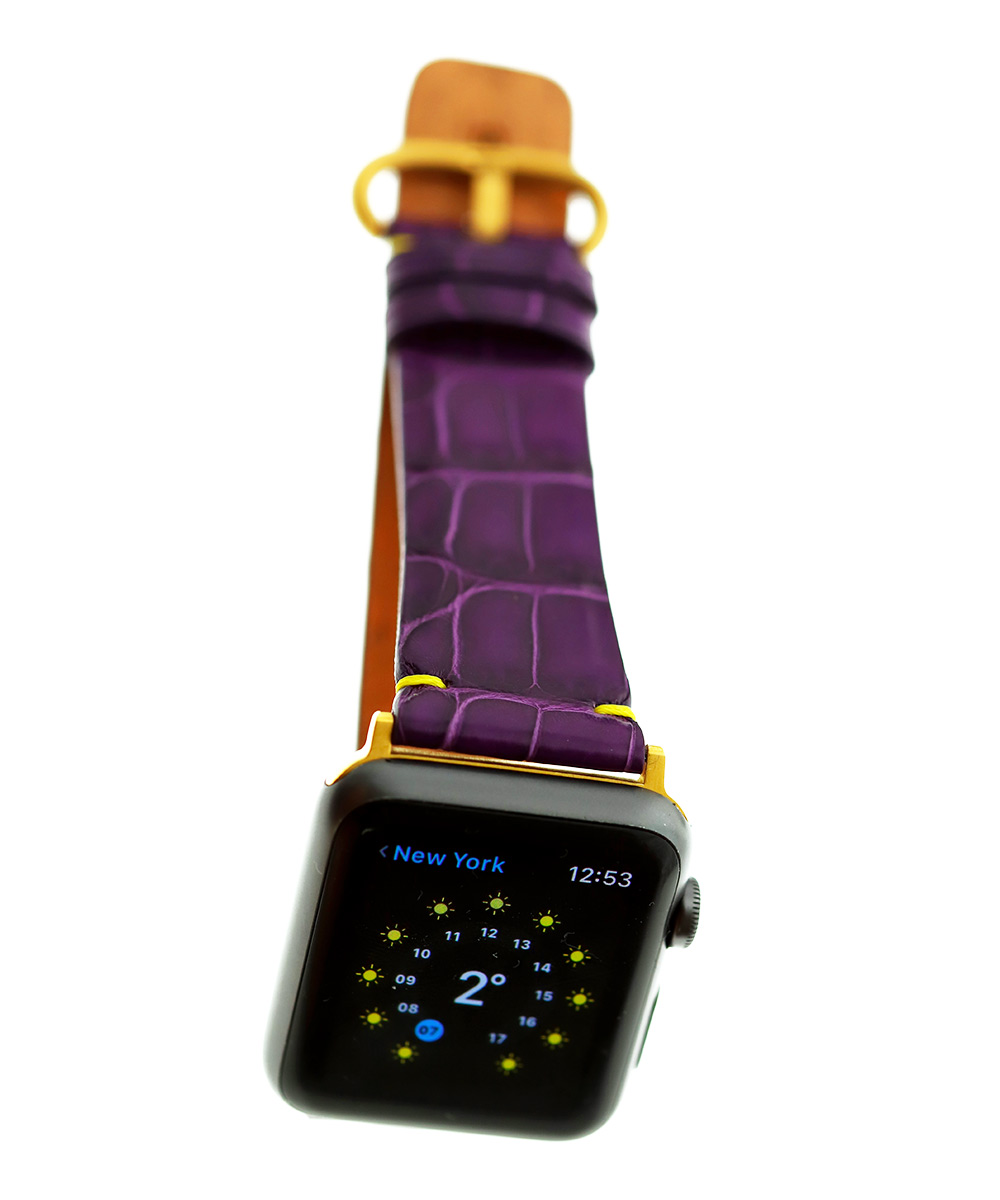Violet Matte Alligator Apple Watch Strap 42mm (All generations)