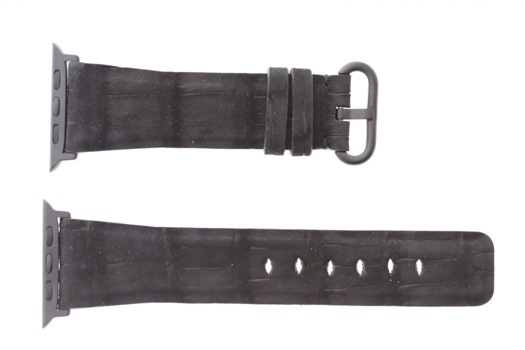 Black Nubuck Alligator leather Apple Watch Strap 44mm, 42mm (All generations)