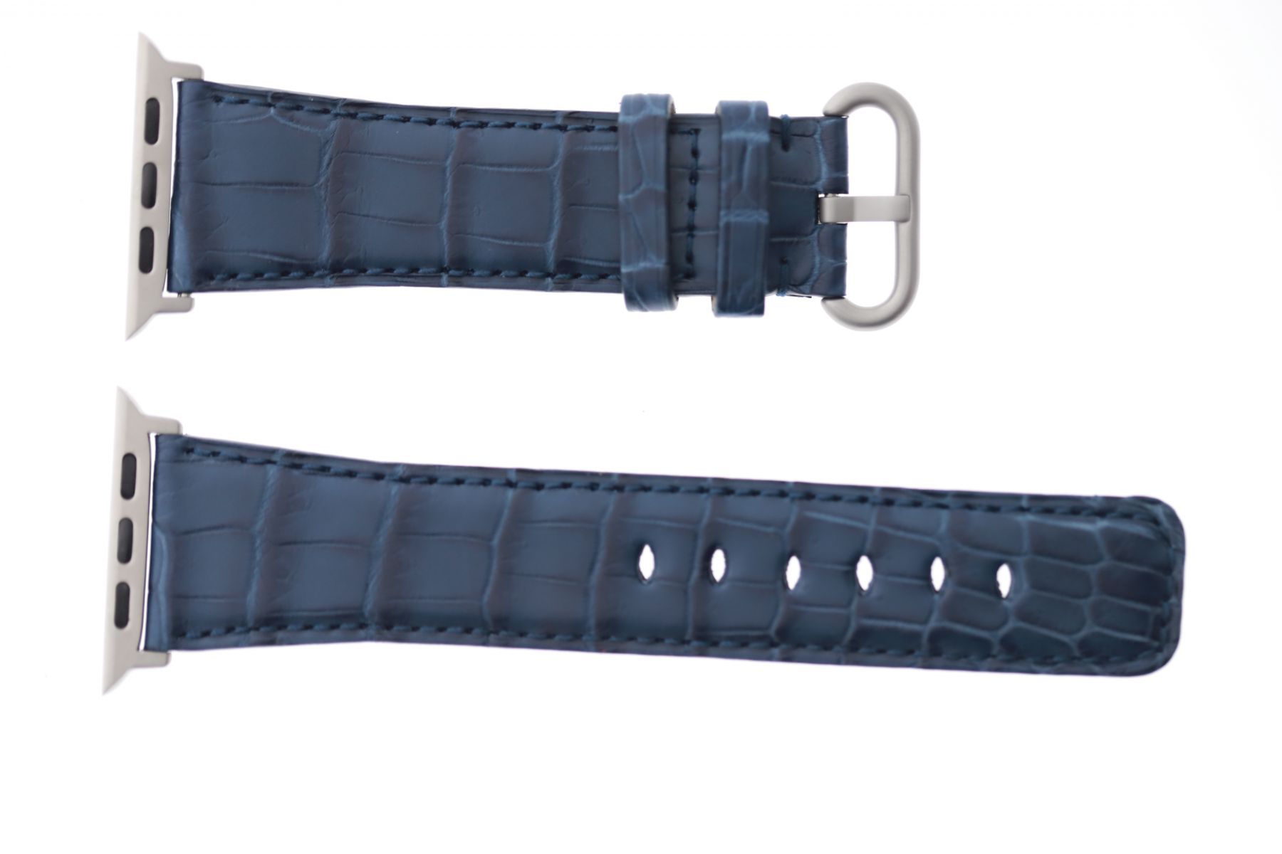 Blue Jeans Alligator leather Apple Watch Strap 44mm, 42mm (All generations)