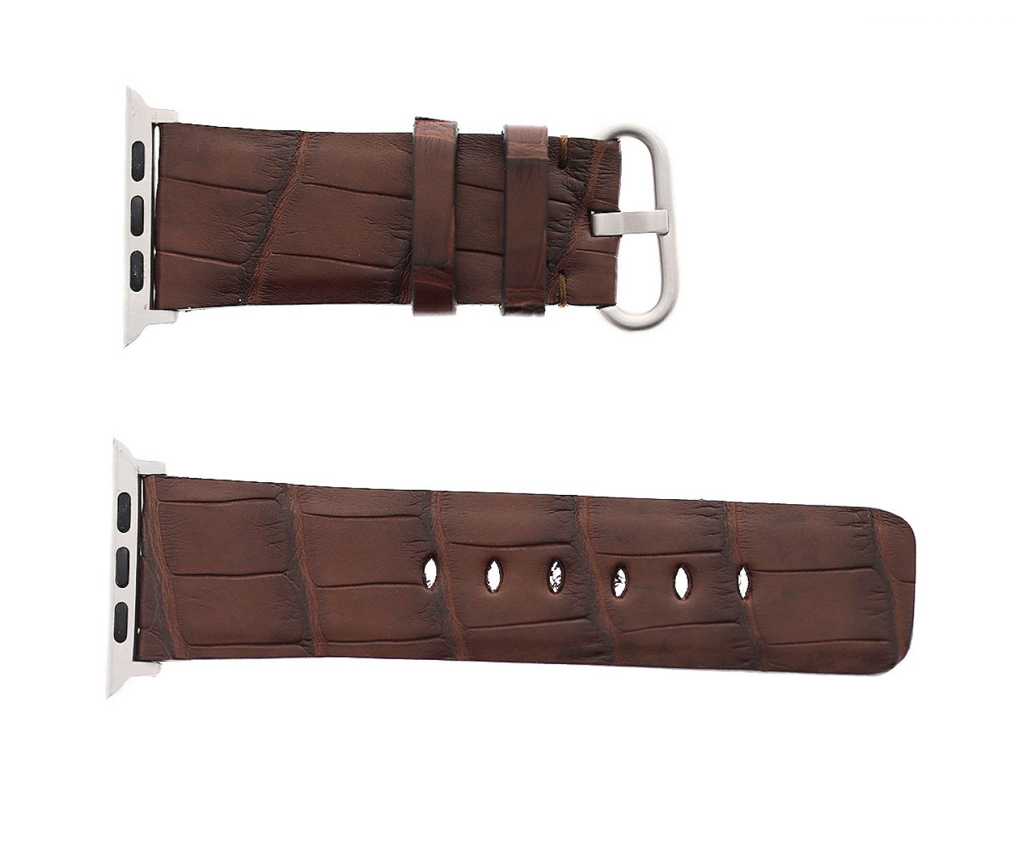 Brown Hydro Alligator leather Apple Watch Strap 44mm, 42mm (All generations)