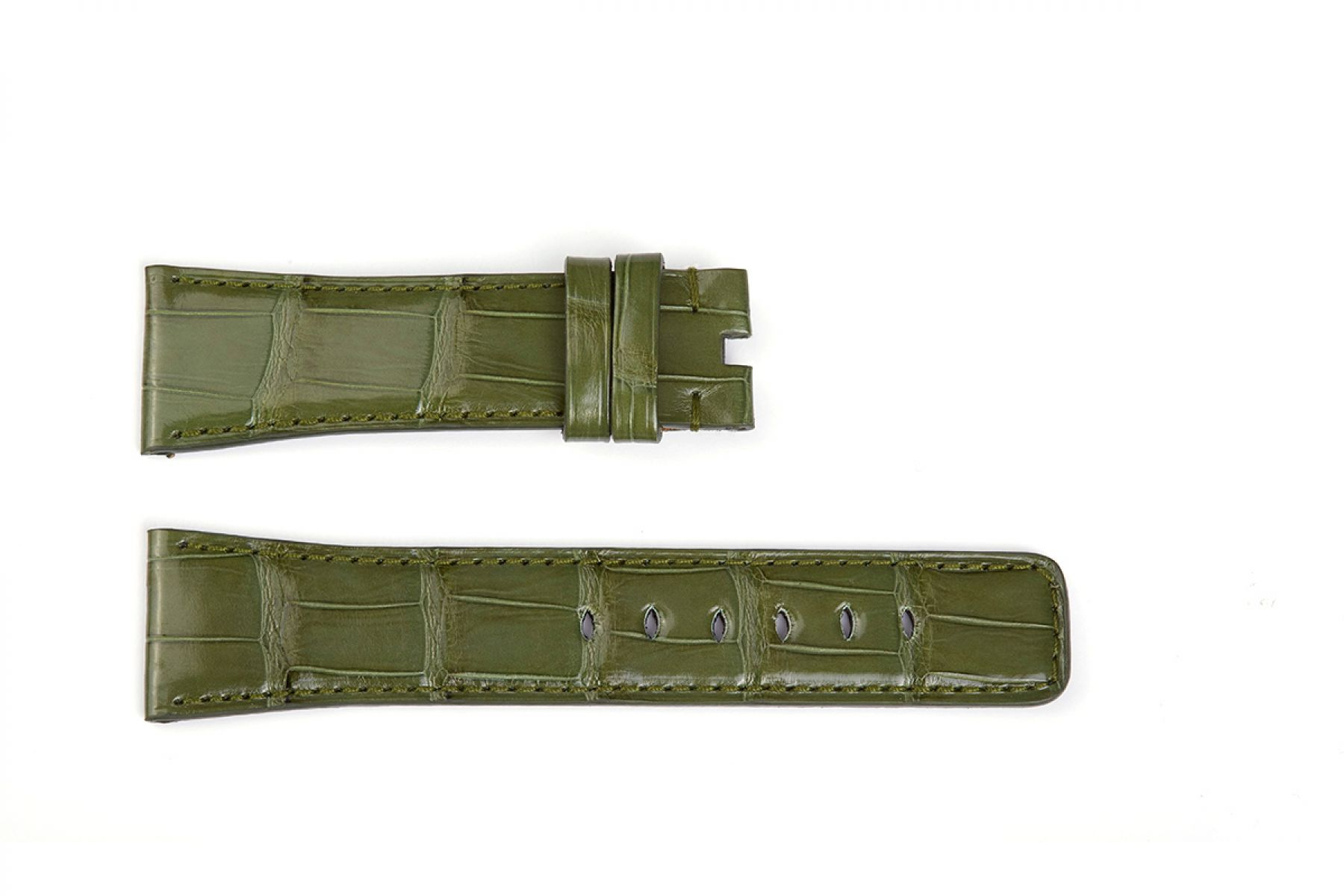Alligator leather Apple Watch Strap (All generations) / VINTAGE GREEN