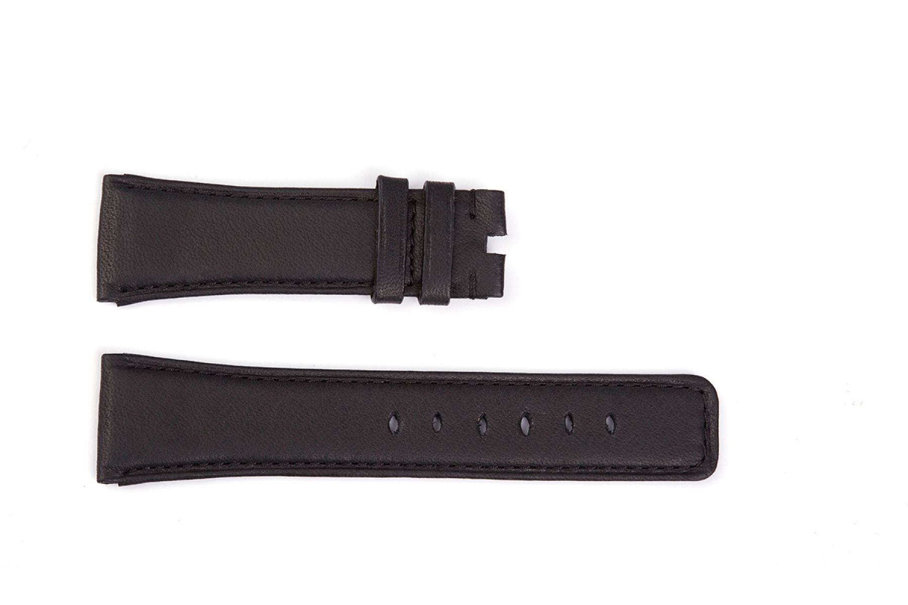 Black Hydro Repellent leather Strap (Apple Watch All Series)