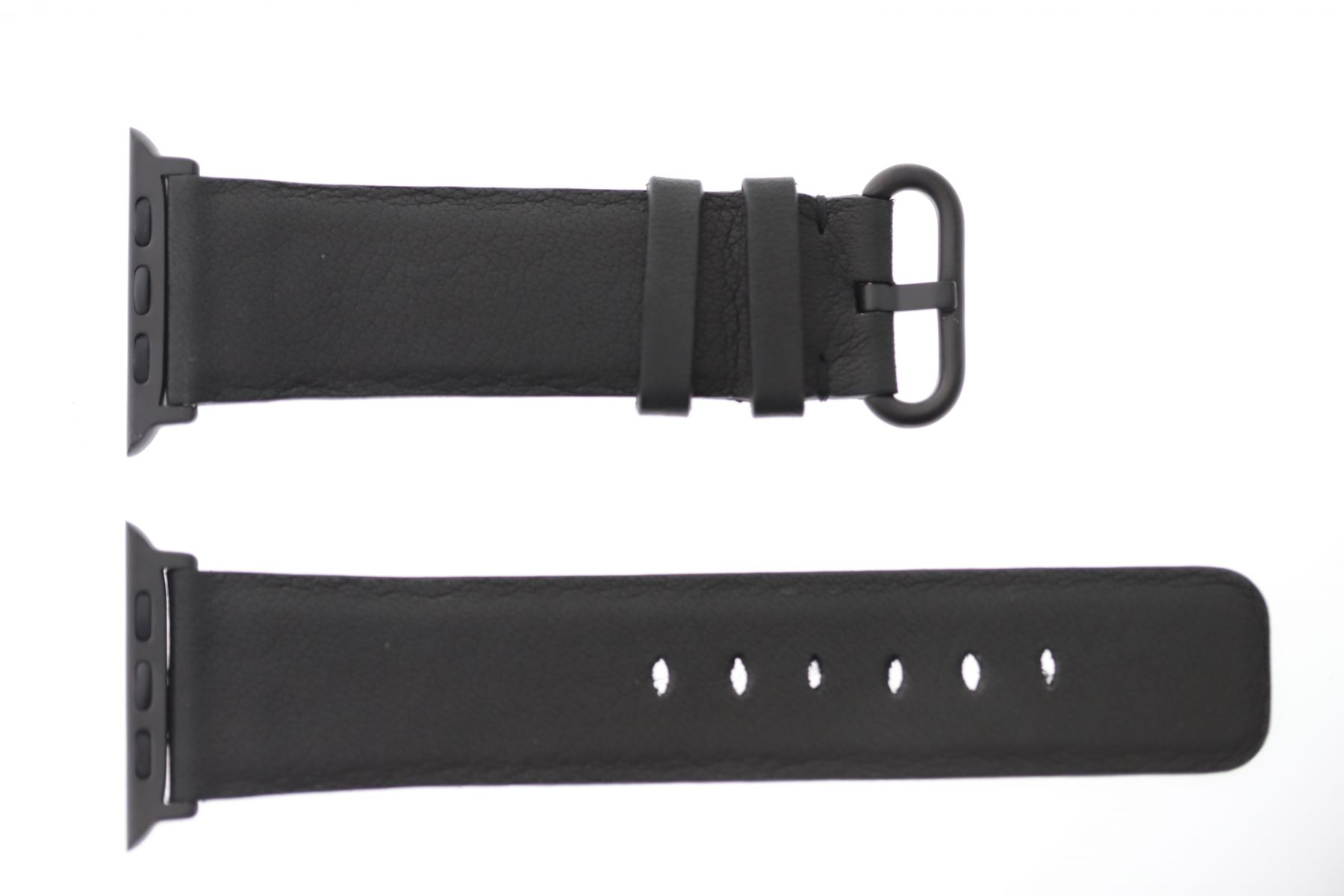 Black Hydro Repellent leather Apple Watch Strap 44mm, 42mm (All generations)