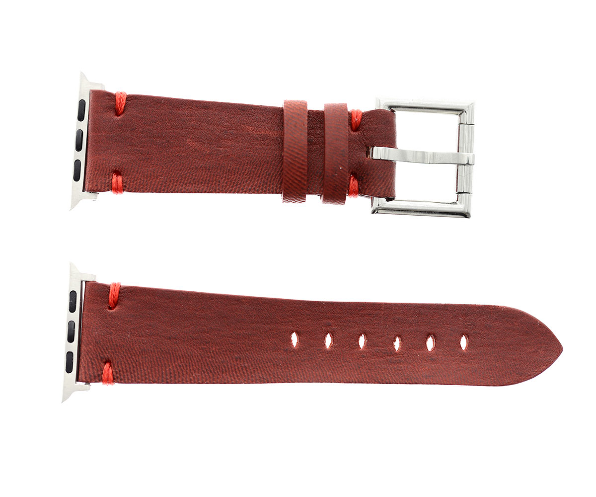Apple band 44mm, 42mm case (Apple Watch All Series) in Bordeaux Kangaroo leather