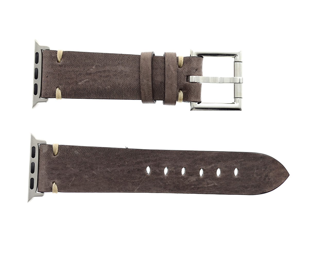 Apple band 44mm, 42mm case (Apple Watch All Series) in Tofu Brown Kangaroo leather