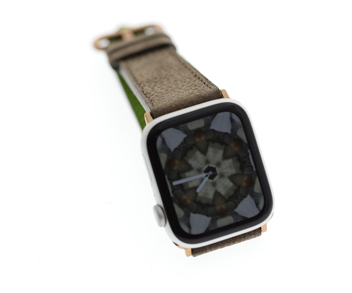Smooth Kudu Antelope leather band Apple Watch 44mm, 42mm. H. Moser & Cie Swiss Alp style