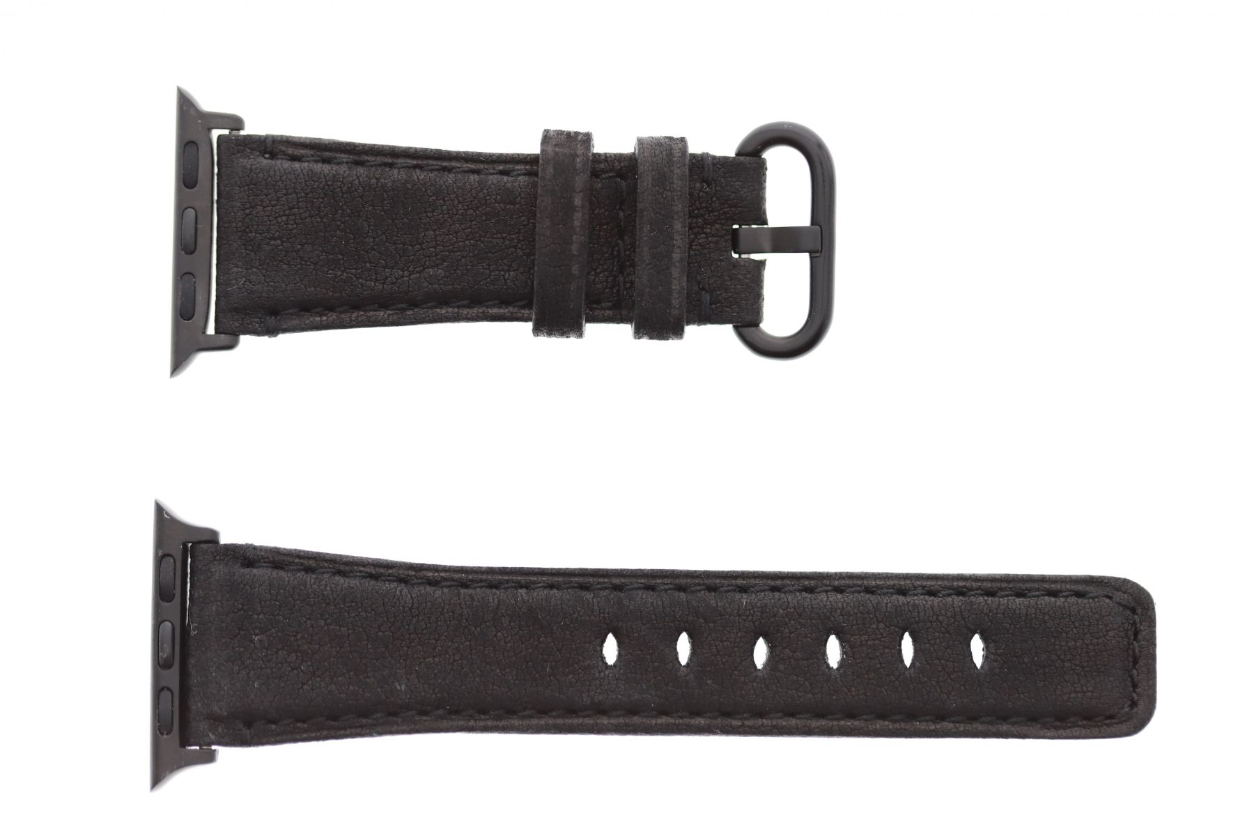 Black Kudu Antelope Reverse Leather Apple Watch Strap 44MM, 42MM (All generations)