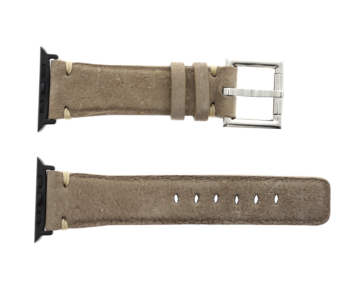 Tortora Beige Kudu Reverse Antilope leather band Apple Watch 44mm, 42mm style