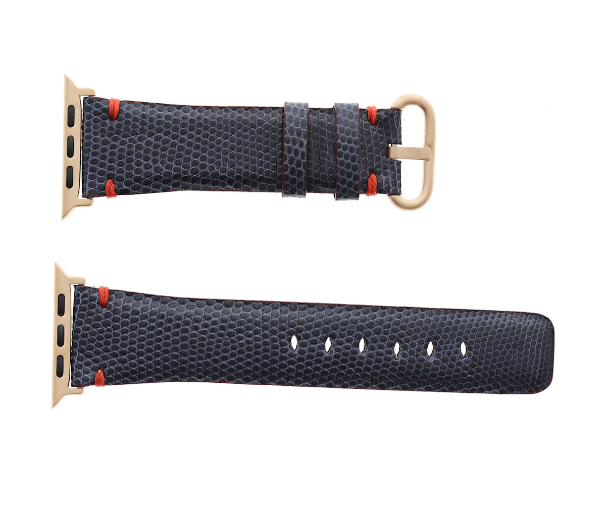 Blue Lizard Leather Apple Watch Strap 44m, 42mm (All generations)