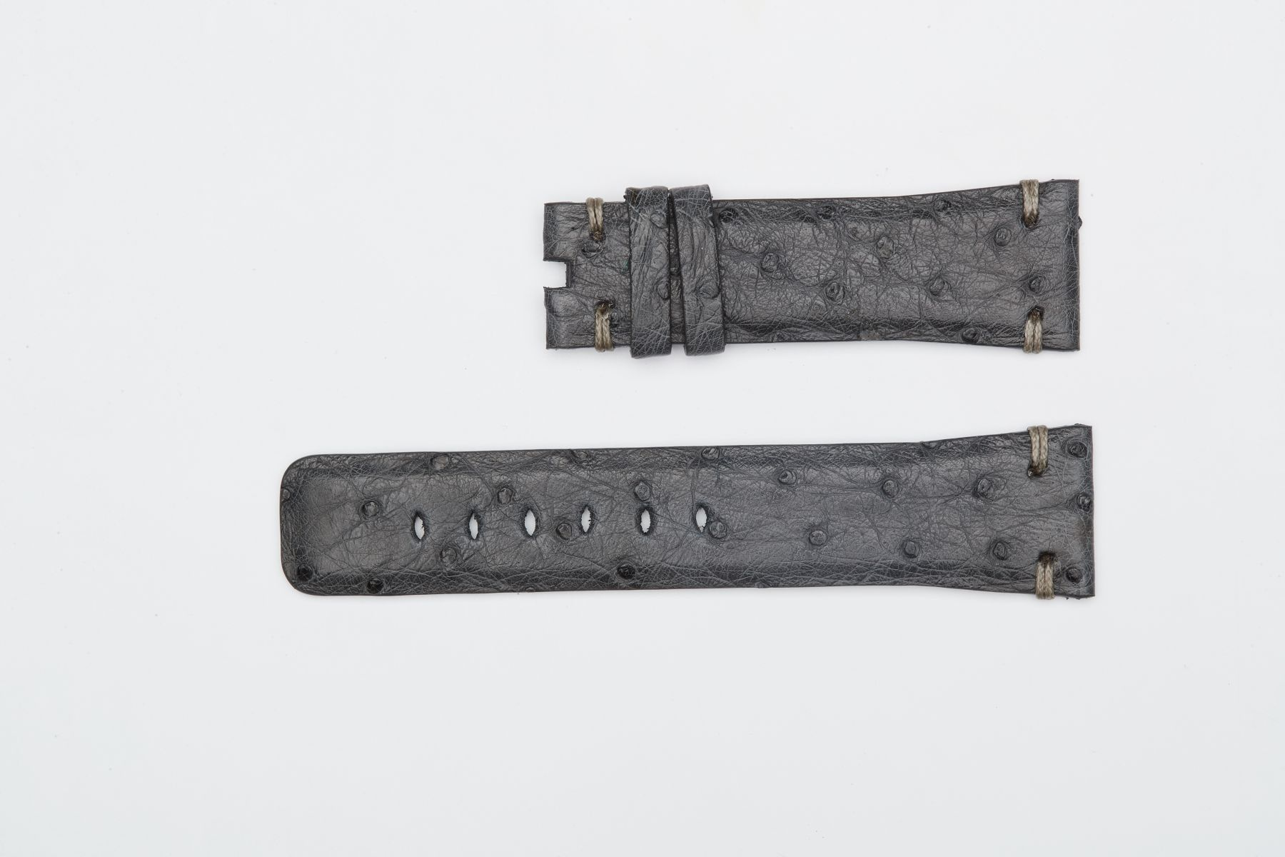 Ostrich leather Apple Watch Strap (Apple Watch All Series) / GREY