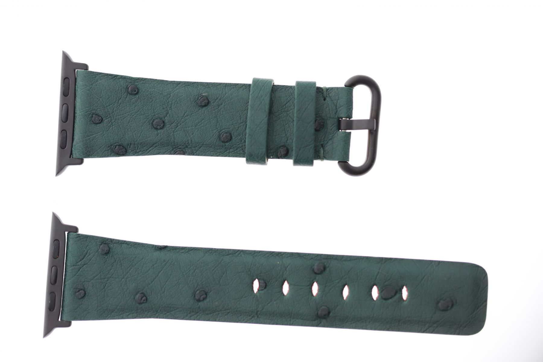 Petrol Green Ostrich leather Apple Watch Strap 44mm, 42mm (All generations)