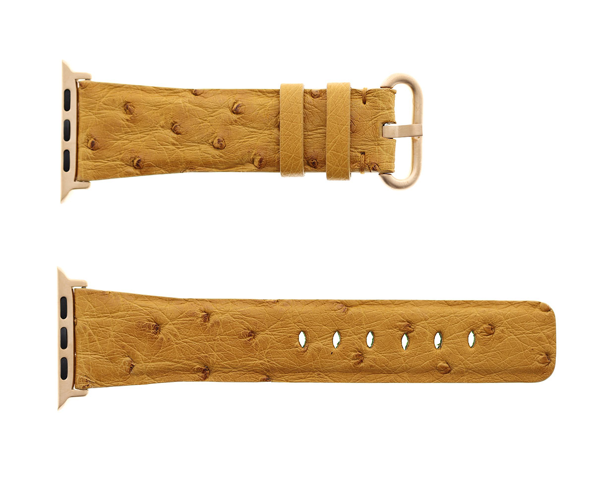 Ostrich leather Apple Watch Strap (Apple Watch All Series) / BEIGE