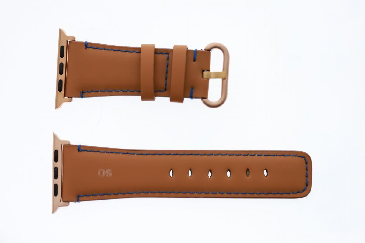 Cognac Brown Recycled Rubber Apple Watch Strap 44MM, 42MM (All generations)