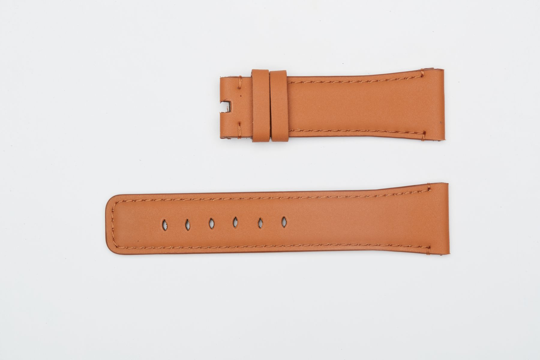 Cognac Brown Recycled Rubber Strap (Apple Watch All Series)