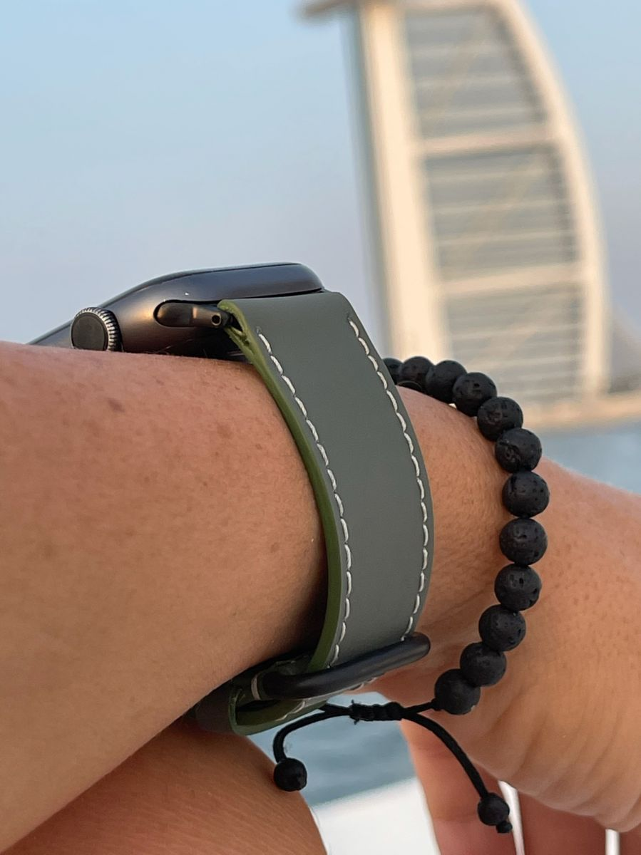 Recycled Rubber Strap (Apple Watch All Series) / MILANO GREY