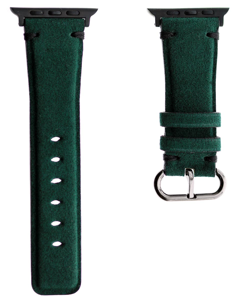 Emerald Green Suede leather wristband Apple Watch 44mm, 42mm style