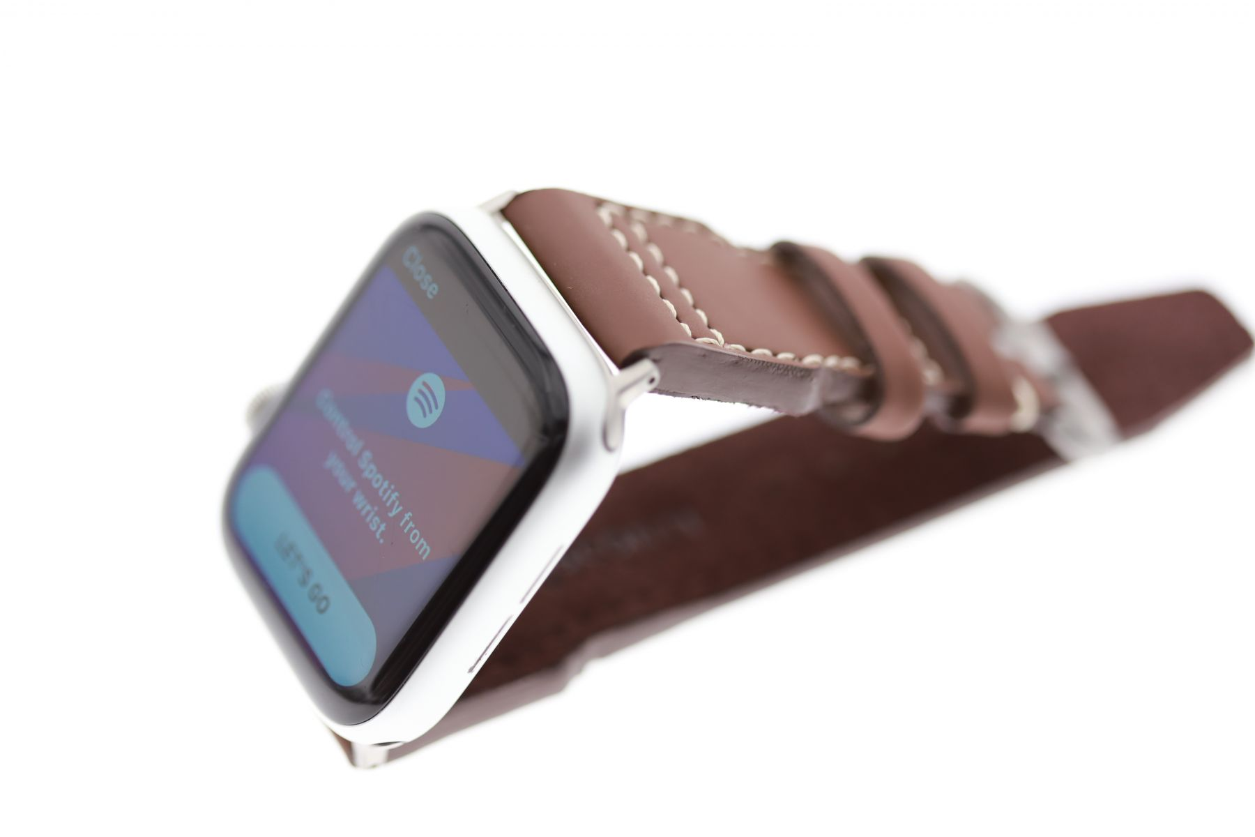 Pilot Design Cognac Brown strap Vegan style (Apple Watch 44mm All Series) in Italian Eco-Leather