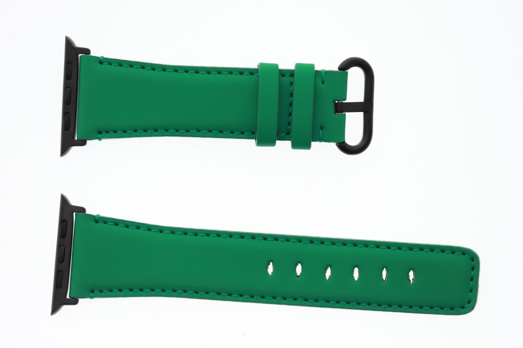 Smooth Vegan Leather Strap for 44mm, 42mm case (Apple Watch All Series) / JADE GREEN