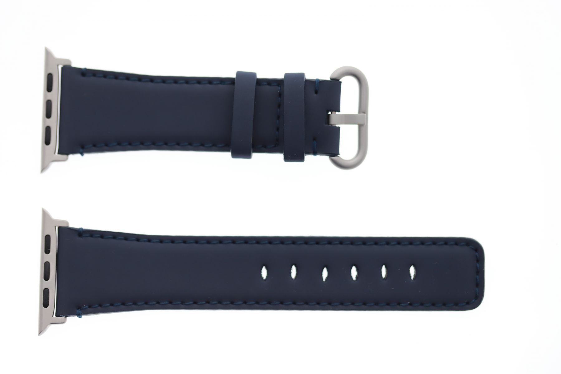 Smooth Vegan Leather Strap for 44mm, 42mm case (Apple Watch All Series) / NAVY BLUE
