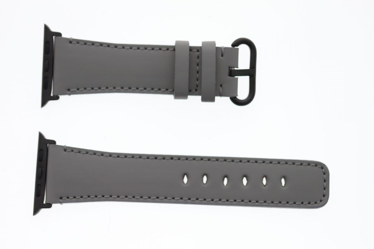 Smooth Vegan Leather Strap (Apple Watch All Series) / XANADU GREY